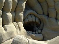 © Rainer Sturm/ pixelio: Detail einer Sandskulptur auf dem Sandskulpturenfestival in Rorschach, Schweiz, am Bodensee 2009