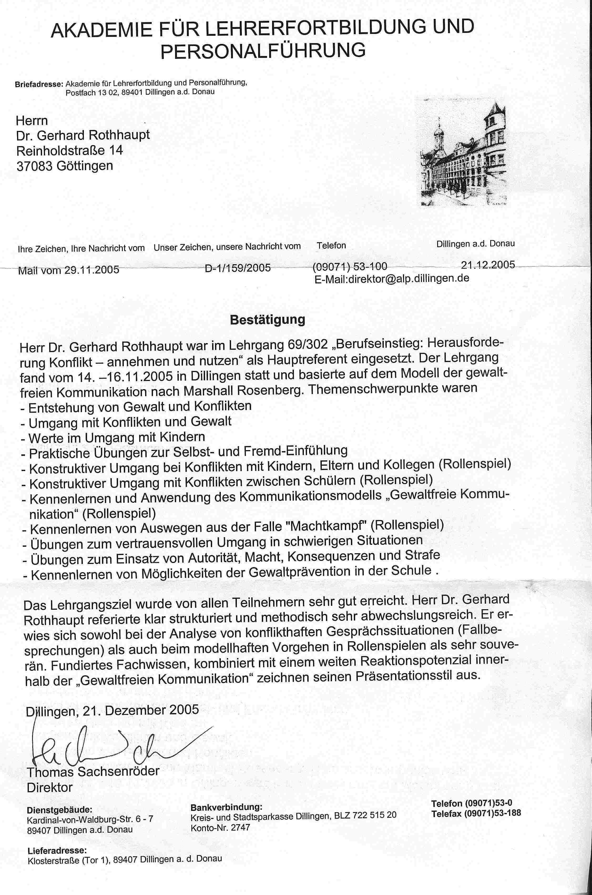 Visionen Und Wege Dr Gerhard Rothhaupt Beratung Training